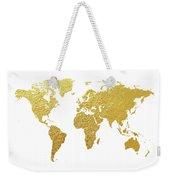 World Map Gold Foil Weekender Tote Bag