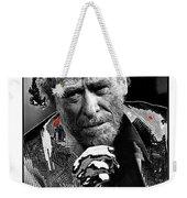 Writer Charles Bukowski On Tv Show Apostrophes September 1978-2013 Weekender Tote Bag