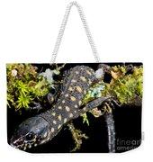 Yellow Spotted Tropical Night Lizard Weekender Tote Bag