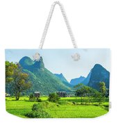 Rural Scenery In Summer Weekender Tote Bag