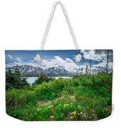 The White Pass And Yukon Route On Train Passing Through Vast Lan Weekender Tote Bag