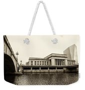 30th Street Station From The River Walk In Sepia Weekender Tote Bag