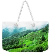 Mountain Scenery In Mist Weekender Tote Bag