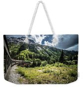 The White Pass And Yukon Route On Train Passing Through Vast Lan Weekender Tote Bag