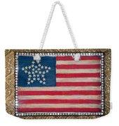 33 Star American Flag. Painting Of Antique Design Weekender Tote Bag