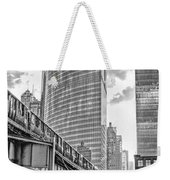 333 W Wacker Drive Black And White Weekender Tote Bag