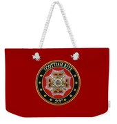 33rd Degree - Inspector General Jewel On Red Leather Weekender Tote Bag