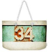 34 On Weathered Aqua Weekender Tote Bag