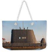 343 Uss Clamagore Diesel Weekender Tote Bag