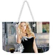 345337 Women Long Hair Lips Eyes Candice Swanepoel Weekender Tote Bag