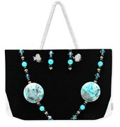 3508 Crazy Lace Agate Necklace And Earrings Weekender Tote Bag