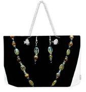 3509 Amber Striped Onyx Set Weekender Tote Bag