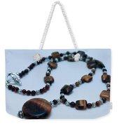 3516 Tiger Eye Necklace  Weekender Tote Bag