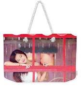 351943 Closed Eyes Asian Women Model Weekender Tote Bag