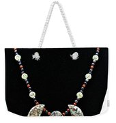3521 Crinoid Fossil Jasper Necklace Weekender Tote Bag