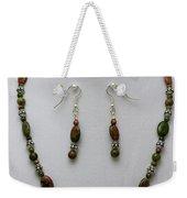 3525 Unakite Necklace And Earring Set Weekender Tote Bag