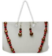 3536 Freshwater Pearl Necklace And Earring Set Weekender Tote Bag
