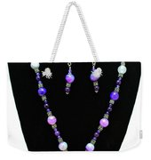 3547 Purple Veined Agate Set Weekender Tote Bag