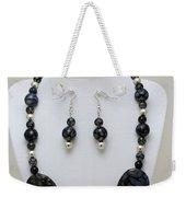 3548 Cracked Agate Necklace Bracelet And Earrings Set Weekender Tote Bag