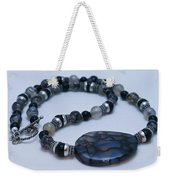 3552 Cracked Agate Necklace Weekender Tote Bag