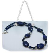 3553 Lapis Lazuli Necklace And Earrings Set Weekender Tote Bag