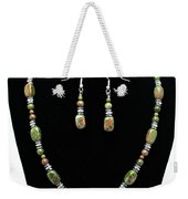 3565 Unakite Necklace And Earrings Set Weekender Tote Bag