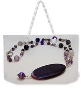 3573 Banded Agate Necklace  Weekender Tote Bag