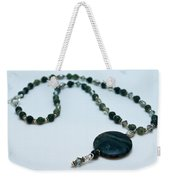 3577 Kambaba And Green Lace Jasper Necklace Weekender Tote Bag