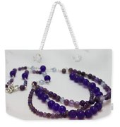 3580 Amethyst And Adventurine Necklace Weekender Tote Bag
