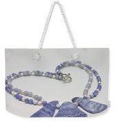 3588 Blue Banded Agate Necklace Weekender Tote Bag