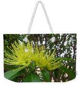 Australia - Pollinating A Green Leionema Flower Weekender Tote Bag