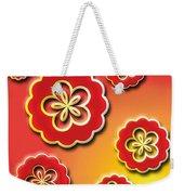 3d Digital Flowers Weekender Tote Bag