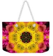 3d Pink Kaleidoscope Weekender Tote Bag