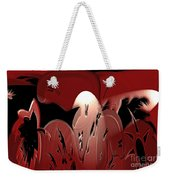 3d Red Abstract Weekender Tote Bag