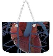 3d Rendering Of Human Heart Weekender Tote Bag