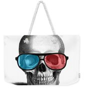 skull with 3D glasses Weekender Tote Bag