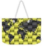 3d World Map Composition 4 Weekender Tote Bag
