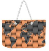 3d World Map Composition Weekender Tote Bag