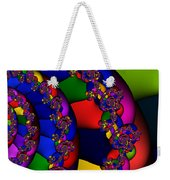 3x1 Abstract 909 Weekender Tote Bag
