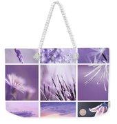 3x3 Purple Weekender Tote Bag