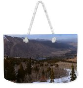 A Snowy Desert Mountain Scene Above Twin Lakes Along The Trail To Monument Ridge In The Eastern Sier Weekender Tote Bag