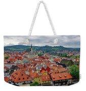 A View Of Cesky Krumlov In The Czech Republic Weekender Tote Bag