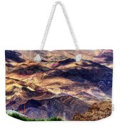 aerial view of Leh ladakh landscape Jammu and Kashmir India Weekender Tote Bag