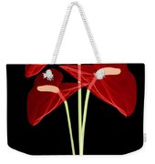 Anthurium Flowers, X-ray Weekender Tote Bag