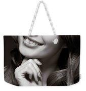 Beautiful Young Smiling Woman Weekender Tote Bag