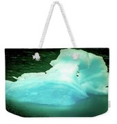Blue Icebergs And Ice Chunks In Water Nearby Alaska Weekender Tote Bag