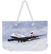 British Airways Airbus A380 Art Weekender Tote Bag