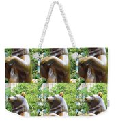 Bronze Statue Sculpture Of Bear Clapping Fineart Photography From Newyork Museum Usa Fineartamerica Weekender Tote Bag