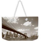 Brooklyn Bridge - New York City Skyline Weekender Tote Bag