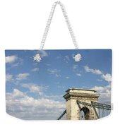 Chain Bridge On Danube River Budapest Weekender Tote Bag